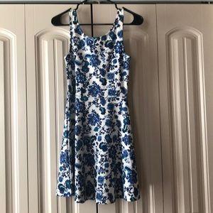 H&M Summer Dress Blue & White